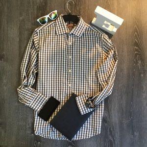 Michael Kors Button Down Men's Dress Shirt, Large